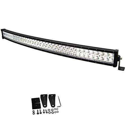 Willpower 42 pollici 240W curvo LED barra luminosa combinata spot flood luci di lavoro a led IP67 impermeabili con staffa di montaggio per fuoristrada rruck SUV auto ATV