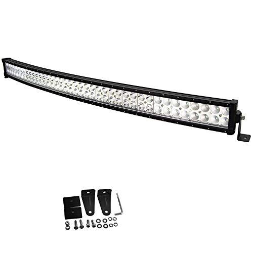 Willpower 42 Zoll 240W gebogene LED-Lichtleiste Combo Spot Flut LED-Arbeitsscheinwerfer IP67 wasserdicht mit Montagehalterung für Geländewagen SUV Auto ATV