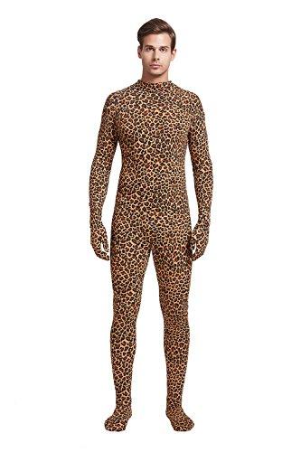 Full Bodysuit Unisex Adult Costume Without Hood Lycra Spandex Stretch Zentai Unitard Body Suit (XX-Large, Leopard)