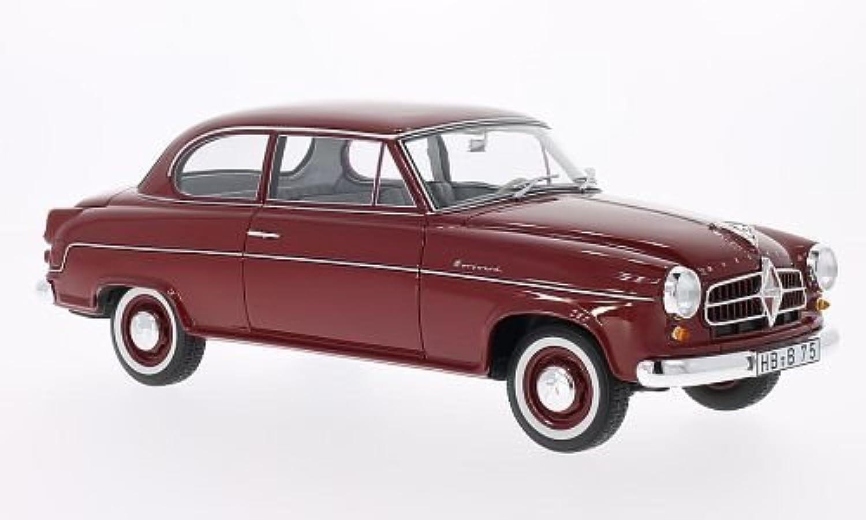 Borgward Isabella Limousine, dunkelrot, 1955, Modellauto, BoS-Models 1 18 B00K6H56IS Schön  | Hohe Qualität und Wirtschaftlichkeit