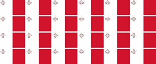 Mini Aufkleber Set - Pack glatt - 33x20mm - Sticker - Malta - Flagge - Banner - Standarte fürs Auto, Büro, zu Hause & die Schule - 24 Stück