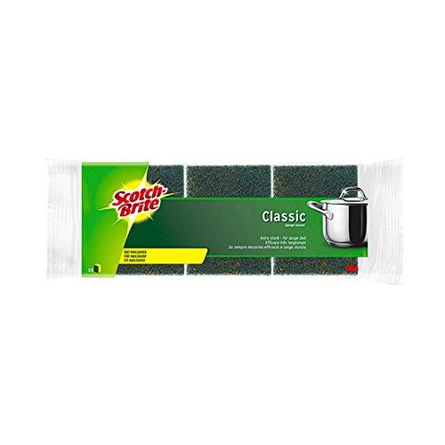 Scotch-Brite™ Reinigungsschwamm Classic, 9 x 7 x 4,5 cm, gelb/grün (3 Stück), Sie erhalten 1 Packung á 3 Stück