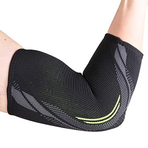 WZHZJ Apoyo del Codo Ejercicio de compresión Levantamiento de Pesas Artritis Fitness Brazo Transpirable Guardias Running Riding Codel Pads Modelos (Size : Large)