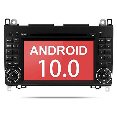Aumume Android 10.0 Autoradio für Mercedes Benz Sprinter B200 B-Klasse W245 B170 A Klasse W169 mit Navi, Unterstützt Autoplay Mirrorlink Bluetooth DSP DAB WiFi USB CD DVD