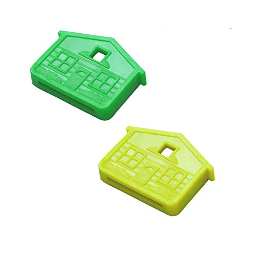 Lucky Line House Key Caps, Neon Colors Assorted, 2 Pack (16206)