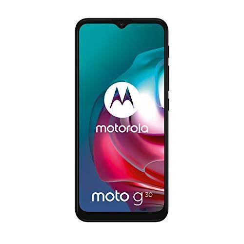"Motorola moto g30 (6,5""-Display, 64-MP-Kamera, 6/128 GB, 5000 mAh, Dual-SIM, Android 11) Dark Pearl, inkl. Schutzcover [Exklusiv bei Amazon] - 2"