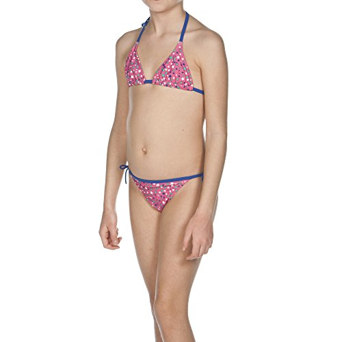 ARENA Mädchen Triangle Bikini Stars, Fresia Rose/Royal, 116
