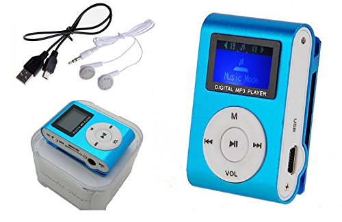 Reproductor Mp3 Mini Clip con RADIO FM Lcd Cable Usb Auriculares SmFRUIT 2173fmaz
