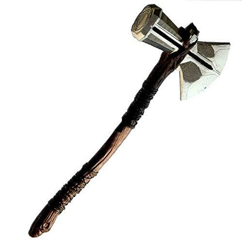 Lonme Martillo de Hacha de Thor Cosplay Prop 72cm Thor's Axe Hammer Kids Toys Thor Storm Breaker Prop Axe Boys Brithdays Gift