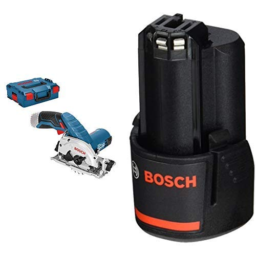 Bosch Professional Akku Kreissäge GKS 12 V-26 (ohne Akku, 12 Volt, Sägeblatt-Ø: 85 mm, in L-Boxx) + Bosch Professional 12 V Akku (GBA 2,0 Ah, 175 g Gewicht, kompatibel mit 12V) 1600Z0002X
