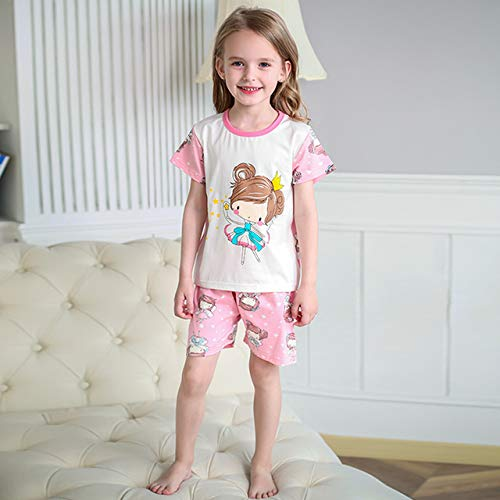 LinZX Pijamas para niñas Estaban despiertos Pijamas Flamenco del Unicornio,2018 Pink Girls,3T