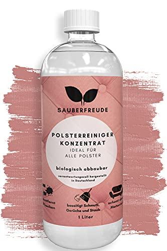 Sauberfreude Polsterreiniger -1000 ml - Fleckentferner für Stoff & Polster - Biologisch abbaubarer Textil Reiniger für Sofa, Teppich, Auto & Polstermöbel