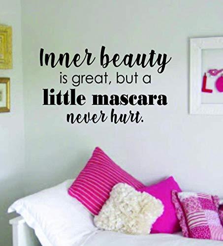 DKISEE muursticker binnen schoonheid mascara citaat mooi ontwerp sticker muur Vinyl Decor kunst wenkbrauwen wimpers wimpers cosmetica schoonheidssalon MUA multi-size en multi-color 24