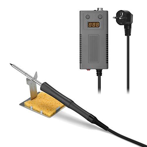 Lötkolben Digitale Lötstation ESD antistatisch Elektronik Soldering Iron 75W mit LCD Anzeige Lötset für Profi und Hobbybastler Löten Reparaturen Brandmalerei