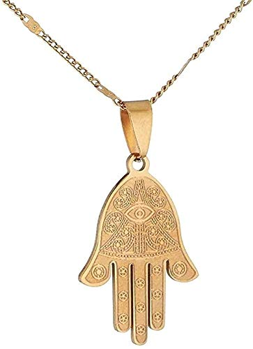 Collar Collar Para Mujeres Hombres Trendy Ojo Egipcio De Buena Suerte Fátima Mano Colgante Collar Mano Palma Joyería Regalo Para Mujeres Hombres Regalo Colgante Collar Regalo Para Mujeres Hombres Niña
