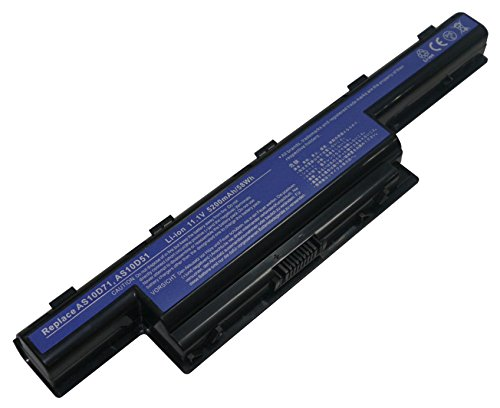 Power Smart® 5200 mAh 11,10 V Li-Ion Batterie pour Acer Aspire 5741, Aspire 5742, Aspire 5750, Aspire 5755, Aspire 7551 Séries