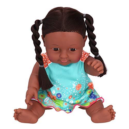 Mädchenpuppe, 30 cm Puppe, Exquisit für Kinder Rollenspiele Baby Entertainment(Q12-09 blue orange contrast skirt)