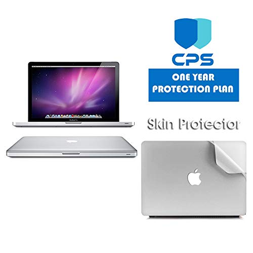 Apple MacBook Pro MD101LL/A 13.3-inch Laptop (2.5Ghz, 4GB RAM, 500GB HD) w/ ED Bundle - $99 Value (Bundle Includes: Pre-Applied Protective Skin + 1 Year CPS Limited Warranty) (Renewed)