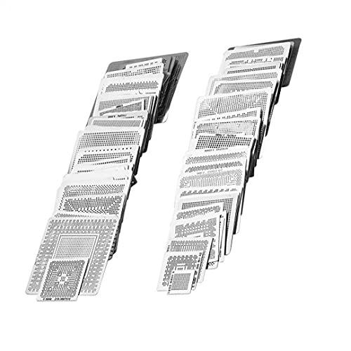 IUwnHceE BGA Plantillas Plantilla de Malla de Acero Universal CPU de reparación de Soldadura Herramientas 130pcs Herramienta portátil de Bricolaje