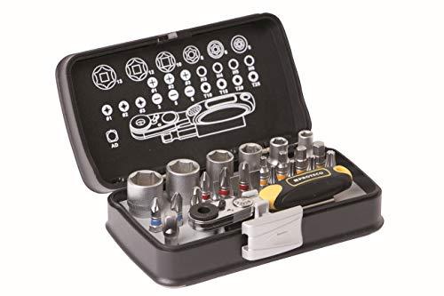 Proteco-Werkzeug® Set di punte per bit box con bussola, 26 pezzi, con mini cricchetto, set di punte...