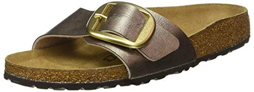 Birkenstock Damen Mules Madrid Big Buckle Birko-flor Sandal, Graceful Taupe, 39 EU