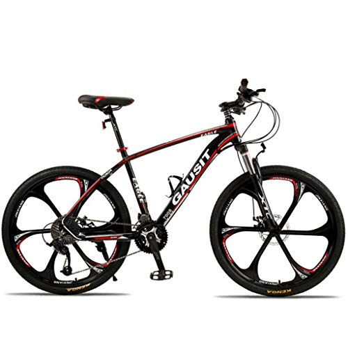 Mountain Bike Trail Bikes Bicycle 26 Inch Mountain Bicycles 27/30 Speeds Lightweight Aluminium Alloy Frame Front Suspension Disc Brake - Black (Size : 30speed)