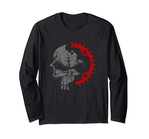 Vintage Mountain Bike Shirt - Skull Crankset MTB T Shirt Long Sleeve T-Shirt