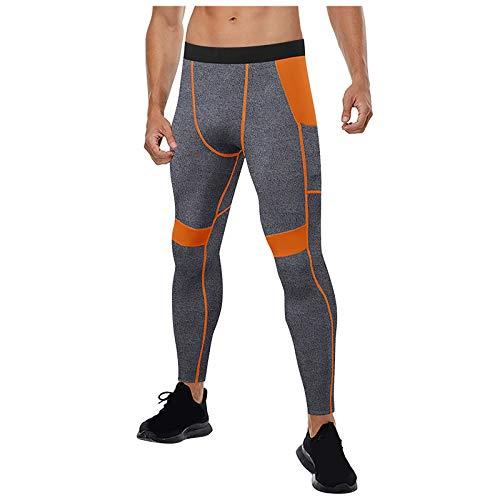 Junjie Leggins Deportivos Hombre Gran Elásticos Bolsillos Pantalon Deportivo Pantalones Deportivos Gimnasio para Yoga Pilates Fitness Gym