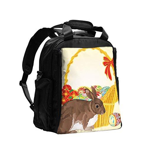 Conejo de mimbre escuela bolsa de libros ajustable bolsos de escuela secundaria bolsa de hombro impermeable al aire libre elegante mochila portátil durable