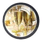 Le maniglie dei cassetti tirano il vetro di cristallo rotondo Manopole dell'armadio Maniglia dell'armadio da cucina,s champagne bicchieri da vino vacanza sughero