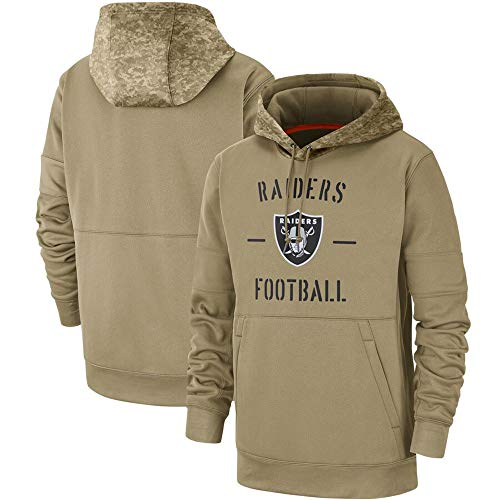 LAIDAN NFL Amerikanischer Fußball Kapuzenpulli Oakland Raiders Hoodies Herren Fans Trikots Fleece Freizeit Sweatshirt Herbst,XXXL