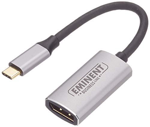 Eminent AB7873 - Convertitore USB Tipo C a DisplayPort 4K, 60 Hz, Colore: Argento