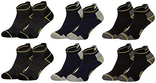 Tobeni 6 Paia di Calze alla Caviglia per Sneaker - Corti da Lavoro per Uomo - Calzini con Tallone e Punta Rinforzati Colore Multicolore Taglia 39-42