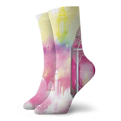 Calcetines altos de compresión con marco adornado con étnico antiguo antiguo, calcetines para mujeres y hombres, mejor para correr