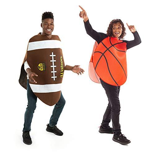 Basketball & Football Halloween Couples Costume - Funny Adult Sports Theme