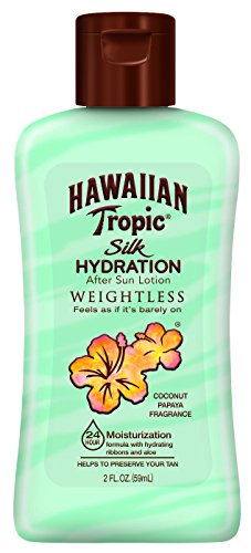 Hawaiian Tropic Silk Hydration Weightless After Sun Gel Lotion With Hydrating Aloe And Gel Ribbons, TSA Approved Size, 2 Ounce