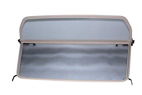 GermanTuningParts Déflecteur de vent pour VW EOS (2006-2011) - Pliable - avec fermeture rapide - Beige | Filet Anti-Remous Coupe | Déflecteur d'air