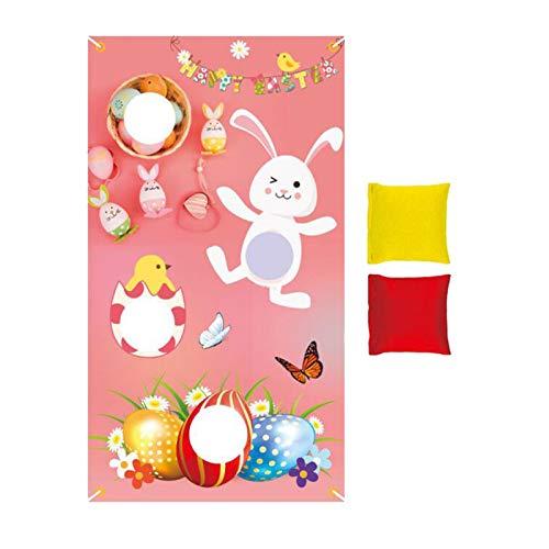 H87yC4ra Pascua Que Lanza La Bandera, Decoración De Pascua Que Lanza Los Bolsos De La Bandera Suministros para Fiestas Decoración del Hogar Rosado