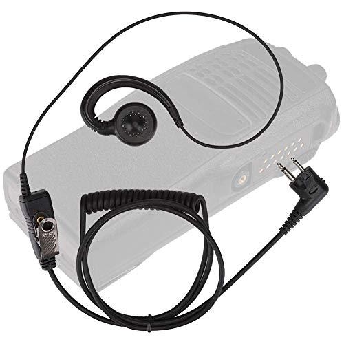 Micrófono de auricular, Auricular de radio portátil, Auricular Walkie Talkie, Auricular Walkie Talkie con altavoz giratorio de 180 °, para oficina,