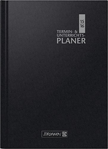 BRUNNEN Buchkalender Termin- und Unterrichtsplaner A4, 2 Seiten = 1 Woche, , Kalendarium 2015/16, (107299116)