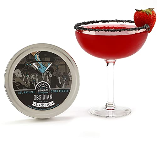 The Spice Lab - Black Obsidian Salt Cocktail Rimmer for Martinis &...
