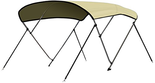 Leader Accessories 10 Colors 3 Bow Bimini Top Boat Cover 4 Straps for Front and Rear Includes...