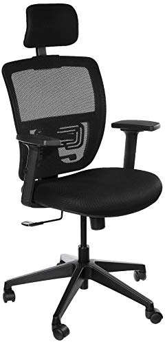 Amazon Brand - Solimo Trance High Back Mesh Contemporary Office Chair (Black)