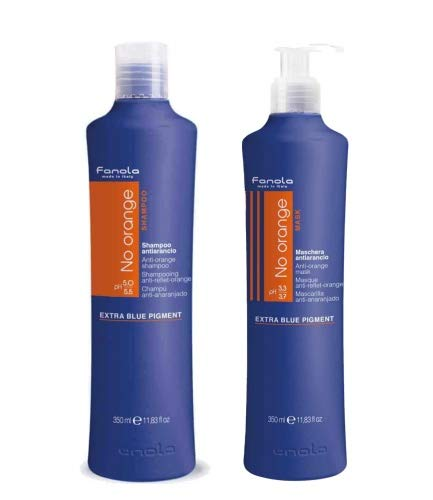 Fanola Set: No Orange Shampoo 350 ml & No Orange Maske 350 ml
