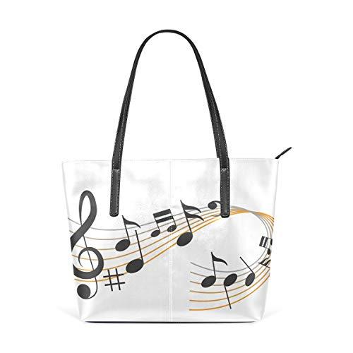 MALPLENA Music Tune Designer-Handtasche für Damen, weiche Arbeitstasche