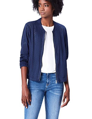 find. Suedette Bomber Giacca Donna, Blu (French Blue), 46 (Taglia Produttore: Large)