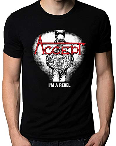 Accept I'm A Rebel Music Metal Band Logo Men's T-Shirt