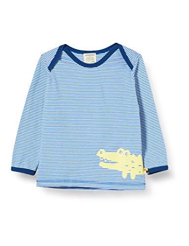 loud + proud Jungen Striped Shirt with Print Organic Cotton Langarmshirt, Blau (Cobalt cob), (Herstellergröße:74/80)