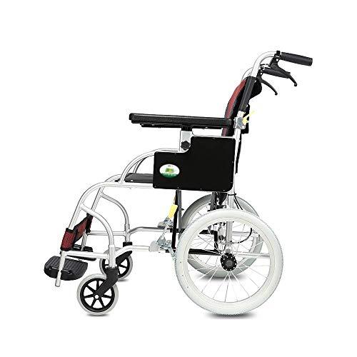 B-K Silla de Ruedas Cinturón Plegable Portátil Inodoro Ancianos Discapacitados Carro de Viaje Silla de Ruedas Trolley Scooter Silla de Ruedas, B