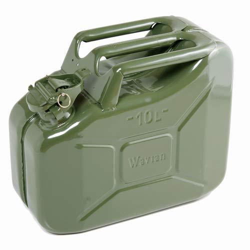 Da 10Litri Verde Tanica per carburante benzina, diesel, ecc.-Design compatto